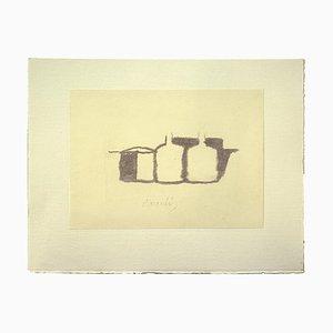 Impresión Offset vintage de Giorgio Morandi, Still Life, 1973