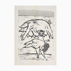 Mino Maccari, Mammaroma, Holzschnitt, 20. Jahrhundert