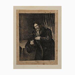 Lucas Vorsterman the Younger, Porträt, Radierung, 19. Jahrhundert