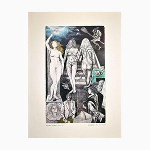 Renato Guttuso, Lies, Allegories, Offset Print, 1981
