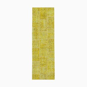 Yellow Patchwork Runner Rug