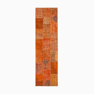 Orange Patchwork Runner Rug