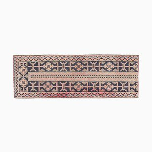 Vintage Turkish Oushak Narrow Runner Carpet