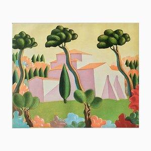 Farblithografie von Salvo (Salvatore Mangione), Landscape, 1990