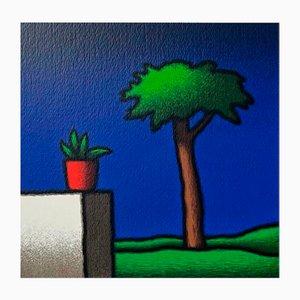 Colored Screenprint, Tino Stefanoni, Vase and Pine, 2000
