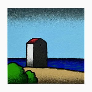 Colored Screenprint, Tino Stefanoni, Beach House, 2000
