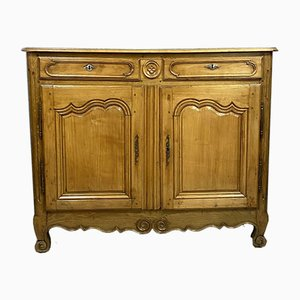 Louis XV Provençal Solid Cherry Buffet with Blond Patina, 1750s