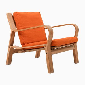 Oak Model GE-671 Lounge Chair by Hans J. Wegner for Getama, 1960s