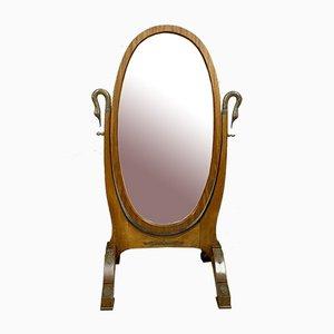 Specchio Psyche periodo imperiale in mogano e bronzo, 1810