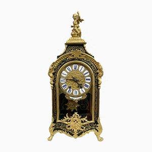 Napoleon III French Golden Brass Clock, 1850s