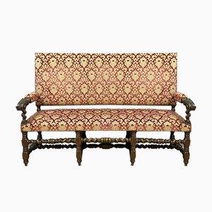 Chaise longue Louis XIII de nogal, década de 1850