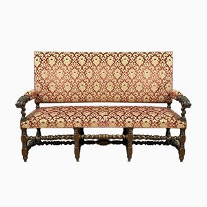 Louis XIII Walnut Chaise Lounge, 1850s
