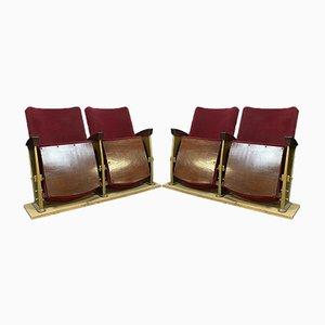 Chaise Lounges de metal dorado, años 50. Juego de 2