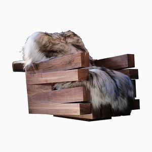 Zoumey Sessel aus massivem Nussholz von Arno Declercq