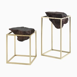 Brass Antivol Side Tables by Ctrlzak, Set of 2