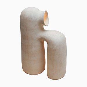 Weiße Steingut Tischlampe von Elisa Uberti