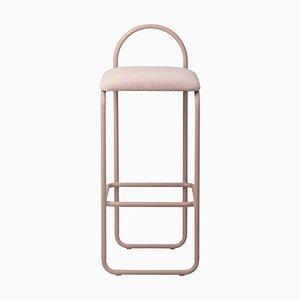 Roséfarbener minimalistischer Barch Bar Chair