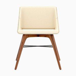 Walnuss und Eschenholz Stuhl von Alexandre Caldas