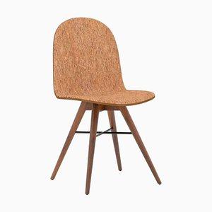 Sedia in legno di noce e sughero di Alexandre Caldas