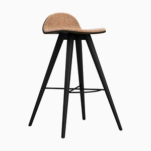 Painted Ash and Cork Fabric Counter Stool by Alexandre Caldas