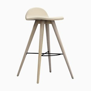 Ash and Fabric Counter Stool