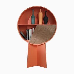 Orangefarbener Luna Schrank aus Nussholz von Patricia Urquiola