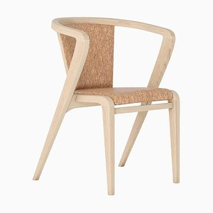 Portugiesischer Roots Chair aus Esche & Stoff von Alexandre Caldas