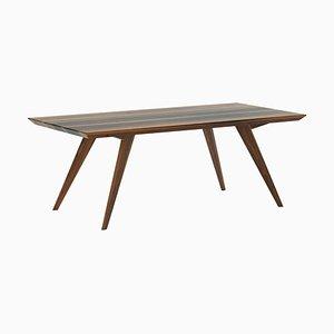 Tavolo da pranzo 400 minimalista in noce
