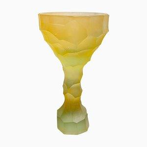 Bicchiere in cristallo giallo scultoreo di Alissa Volchkova