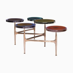 Agatha Coffee Table with 5 Tops by Draga & Aurel