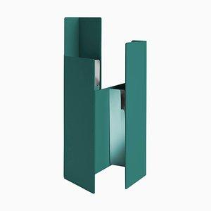 Petrolgrüne Fugit Vase von Matteo Fiorini