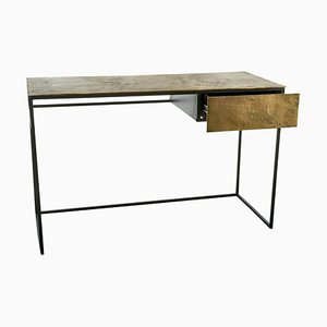 Antique Brass Plated Desk by Pols Potten Studio