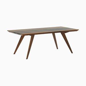 Tavolo da pranzo 160 minimalista in noce
