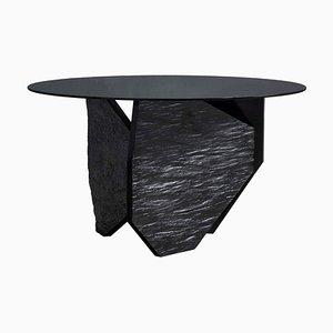 Tavolo da pranzo in ardesia di marmo di Frederic Saulou