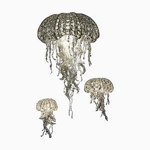 Medusa in cristallo di Geraldine Gonzalez, set di 3