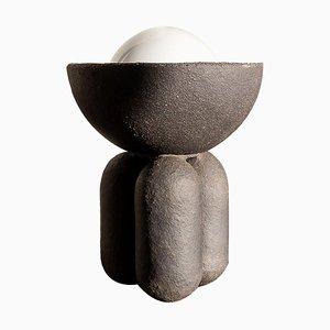 Schwarze Half Sphere Lampe in Schwarz von Lisa Allegra