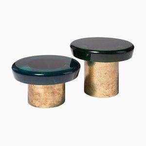 Tables Basses Jade par Draga & Aurel, Set de 2