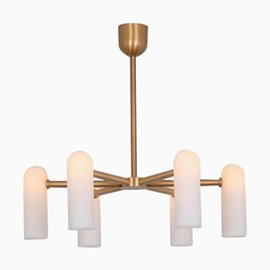 Brass Round Chandelier from Schwung