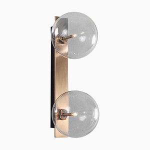 Dual Brass Wall Sconce from Schwung