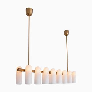 Brass Linear Chandelier 16 from Schwung