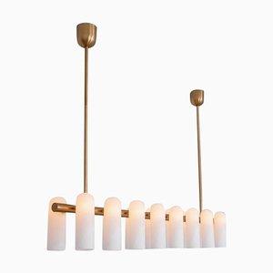 Lámpara de araña Linear 16 de latón de Schwung