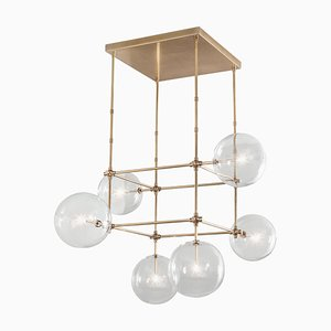 Brass Soap Chandelier 6 from Schwung