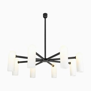 Black Round Chandelier 8 from Schwung
