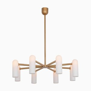 Brass Round Chandelier 8 from Schwung