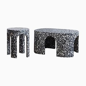 Loggia Terrazzo Side and Coffee Table, Set of 2