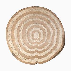 Mesa de tronco de roble travertino esculpida de Francesco Perini