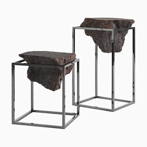 Black Antivol Side Tables by CTRLZAK, Set of 2