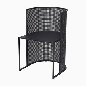 Black Steel Bauhaus Dining Chair from Kristina Dam Studio