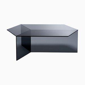 Mesa de centro Isom de vidrio transparente de Sebastian Scherer