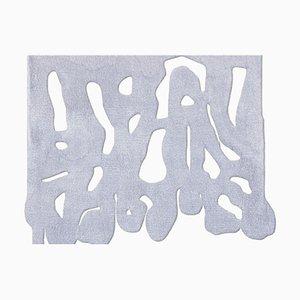 Weißer handgeknüpfter Snakeroot Teppich von Laroque Studio